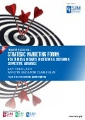 SIM Strategic Marketing forum 14-15 July