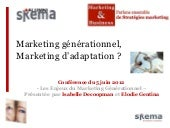 Presentation Marketing générationne...