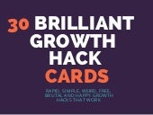 30 Brilliant Marketing Growth Hack Cards