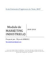 Marketingindustrielabbassi 09120119...