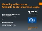 Marketing e-Resources: Adequate Tools to Increase Usage