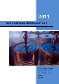 Marketing Plan for Cold Bitumen in India