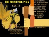 Lesson in Marketing Plan Part II in...