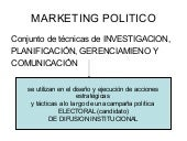 Marketing político y op.2009 mayo