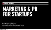 Marketing & PR for Startups
