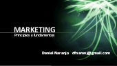 Marketing principios y fundamentos
