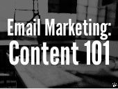 Email Marketing 101: Content