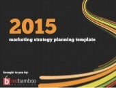 2015 Marketing Strategy & Planning Template