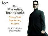 The Marketing Technologist: Neo of the Marketing Matrix