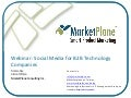 Social Media for B2B Technology Companies - A MarketPlane presentation