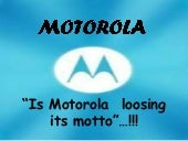 Market Research on Motorola