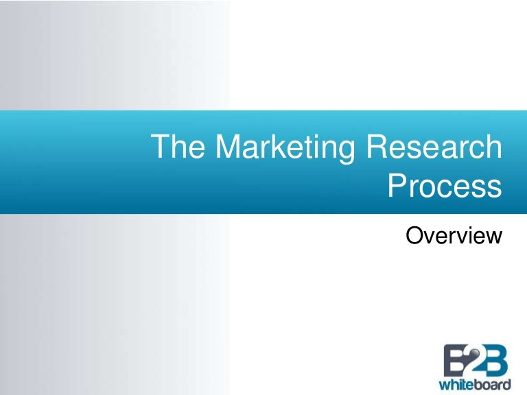 Steps of marketing research