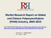 Polyoxymethylene (POM) Market Trend & 2019 Forecasts for Global and Chinese Regions