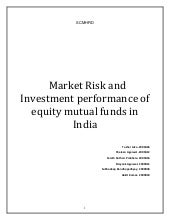 Market risk and investment performa...