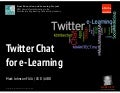 Twitter Chat + Multimedia e-Learning