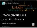 Vizualize.me + Linkedin = Infographic + iPad