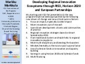 Developing Regional Innovation Ecos...