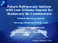 Future Refrigerant Options with Low Climate Impact for Stationary Air Conditioners
