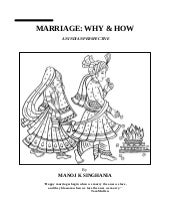 Marriage: how & why An Indian Persp...