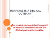 Marriage is a Biblical Covenant