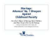 Marriage & Poverty: Arkansas