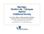 Marriage & Poverty: Florida