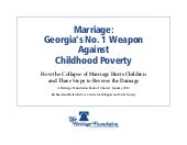 Marriage & Poverty: Georgia
