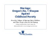 Marriage & Poverty: Oregon