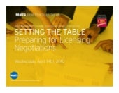 Setting the Table: Preparing for li...