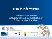 Health Informatics and Broadband Pr...