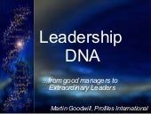 Martin Goodwill - Leadership DNA