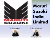 Maruti India Limited Strategic Eval...