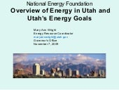 Overview of Energy in Utah and Utah...