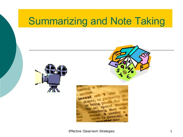 How to summarize effectively