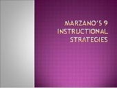 Marzano's 9 instructional strategies