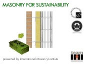 Masonry for sustainability