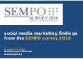 SEMPO Survey 2010 Social Media Marketing Findings Massimo Burgio