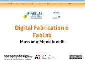 Digital Fabrication e FabLab at Reg...