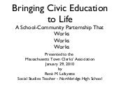 Bringing Civic Education to Life