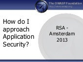 RSA Europe 2013 OWASP Training