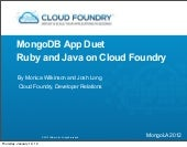 MongoLA - Cloud Foundry