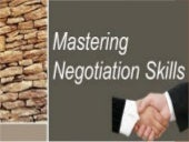 Mastering negotiation skills pdf
