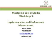Mastering Social Media Workshop 3 S...