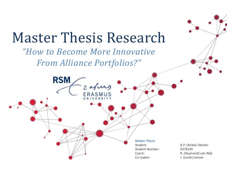 business model innovation master thesis This thesis investigates the extent to which methods new or tools for business model innovation (bmi) can be used to improve circular business model (cbm) concepts.