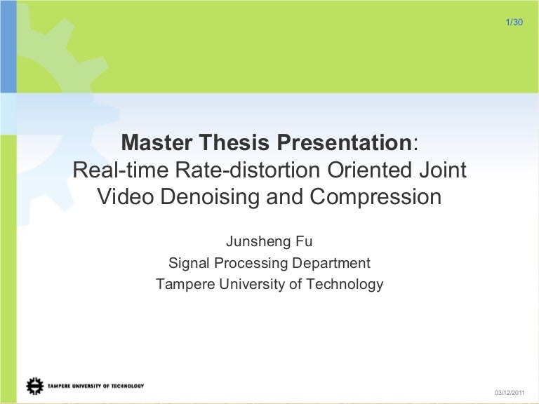 Presentation of master thesis