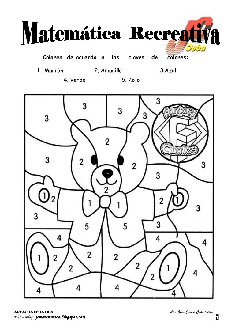 Contemporáneo Páginas Para Colorear De Matemáticas Para 5 ° Grado ...
