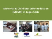 Maternal & child mortality reductio...