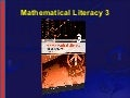 NCV 3 Mathematical Literacy Hands-On Support Slide Show - Module 2
