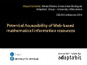 Mathematical Webs Accessibility CSU...