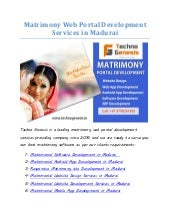 Matrimony Web Portal Development Services In Madurai